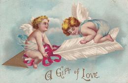 VALENTINE'S DAY, PU-1910; A Gift Of Love, Two Angels - Valentijnsdag