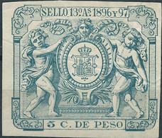Puerto Rico-Portorico, Spanish Revenue Stamps,1896-97 Papeleta De Levante 5c.De Peso,Mint - Porto Rico
