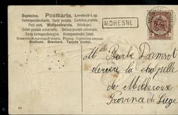 Carte-religieux --obl. VERVIERS (OUEST )  1907 + Griffe De MORESNET (encadrée) - Linear Postmarks