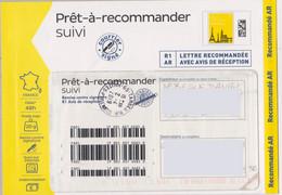 Prêt à Recommander Suivi R1AR Lettre Recommandée Avec Avis De Réception - PAP : Altri (1995-...)