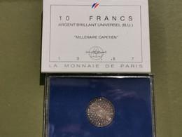 10 Francs Millénaire Capétien Argent 900‰ - K. 10 Franchi