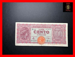 ITALY 100 Lire  10.12.1944   P.  75   VF      [MM-Money] - 100 Lire