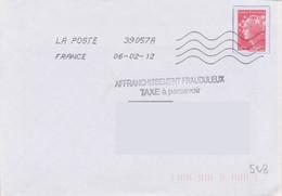 Griffe 2 Lignes AFFRANCHISSEMENT FRAUDULEUX TAXE à Percevoir + Toshiba 39057A - Lettere Tassate