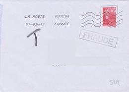 Griffe 1 Ligne FRAUDE En Encadré + Toshiba 03320A - Lettere Tassate