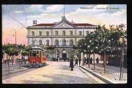 TARANTO - INIZI 900 - INGRESSO REGIO ARSENALE CON TRAM - Tranvía