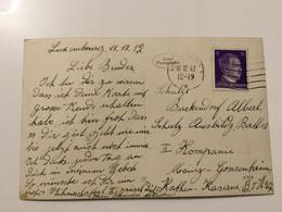 Luxembourg Carte 1942 Pour Un Bataillon à Mainz - 1940-1944 German Occupation