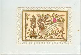 CANIVET IMAGE RELIGIEUSE DE 1882 QUE VOS TABERNACLES SONT AIMABLES SEIGNEUR SCANNE SUR FOND COULEUR POUR MIEUX DECOUVRIR - Devotion Images