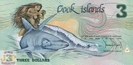 COOK ISLANDS 3 DOLLARS 1987 PICK 3 UNC - Cook Islands