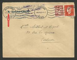 8 Mai 1945 ! !....jour De La Capitulation / Flamme NARBONNE / Affr. Iris & Marianne De Dulac - 1921-1960: Modern Period