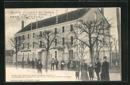 CPA Auxerre, Bourse Regionale Du Travail, 12, Avenue Gambetta, Fete Du Travail - Auxerre