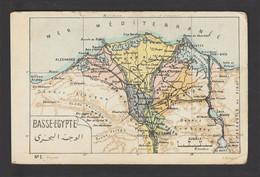 Egypt - Very Rare - Vintage Post Card - Map - BASSE-EGYPTE - 1866-1914 Khedivate Of Egypt