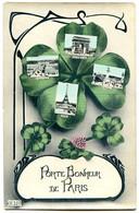 75000 - Porte-Bonheur De PARIS - Trèfle à 4 Feuilles, Cadre Nouille Art Déco, Très Bon état - Sonstige