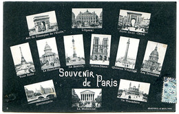 75000 PARIS - Souvenir - Multivues En Héliotypie - Postée En 1906 - Sonstige