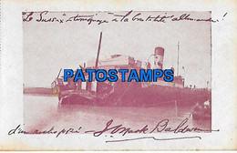 146383 SHIP BARCO SHREDDED WAR IN ARGENTINA POSTAL POSTCARD - Sin Clasificación