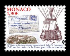 Monaco 2020 Mih. 3515 Aviation. Balloon Mail MNH ** - Nuovi