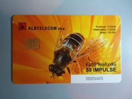 ALBANIA  USED CARDS  BEES - Honingbijen