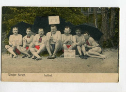 3104665 GERMANY WEISSER HIRSCH Luftbad Semi-nude Men Beach Old - Europa
