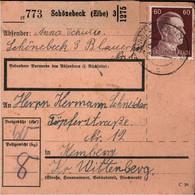 ! 1942 Schönebeck Nach Kemberg, Paketkarte, Deutsches Reich, 3. Reich - Covers & Documents