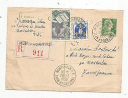 Entier Postal,  Carte Postale, MONTAUBAN R.P. , Tarn Et Garonne ,1956 , R 911 ,recommandé - Standard- Und TSC-AK (vor 1995)
