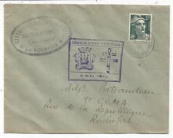 GANDON 2FR SEUL LETTRE LA ROCHELLE 8.5.1945 + GRIFFE LIBERATION DE LA FORTERESSE DE LA ROCHELLE - 1945-54 Marianne De Gandon