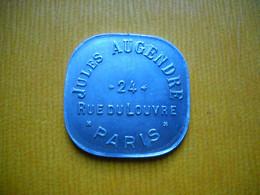 Jeton De Nécessité ,  Jules Augendre , 24 Rue Du Louvre A Paris. 40 Ct. 2 Photos . - Notgeld