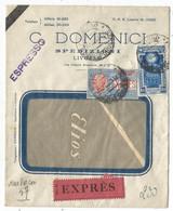 ITALIA EXPRES 2.50+ 1 LIRE 25 LETTERA FENETRE EXPRES TORINO 1933 + AMBULANT - Posta Espresso