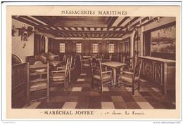 """MESSAGERIES MARITIMES   """"MARECHAL JOFFRE"""" 1ere CLASSE    LE FUMOIR - Steamers"""