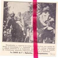 Orig. Knipsel Coupure Tijdschrift Magazine - Hoogstraten - Jubilé De L' Eglantine - 1933 - Non Classificati