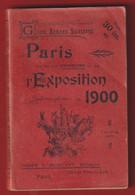 GUIDE Plan PARIS EXPOSITION De 1900 Plans Chemin De Fer Gare Fiacre Omnibus Tramway PUB RHUM ST JAMES CHAMPAGNE MERCIER - 1801-1900