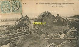 14 Martigny, Débris Du Navire La Ville De Carentan Après Son Naufrage, Affranchie 1905 - Other Municipalities