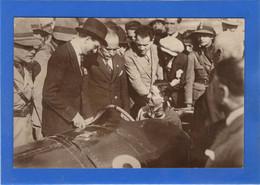 SPORT AUTOMOBILE - MONZA, 1er Grand Prix D'Europe, Carte Photo. Mussolini Causant Avec Bordino - Zonder Classificatie