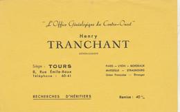 BON BUVARD, Généalogiste Henry TRANCHANT à TOURS - 004 - Unclassified
