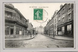 CPA - NEVERS (58) - Aspect Du Garage Automobile Bernard Gross Dans L'avenue St-Just En 1911 - Nevers