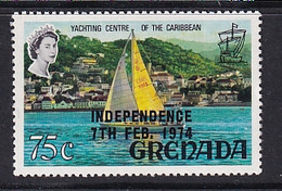 Grenada: 1974   Pictorial 'Independence' OVPT   SG603   75c     MNH - Grenada (1974-...)