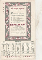 "BON BUVARD RETARCYL""ANA"" - CALENDRIER MARS 1953  - 019 - Unclassified"