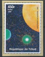 D - [35994]SUP//**/Mnh-Tchad 1999 - Découverte De La Planète Pluton - Espace - Afrika