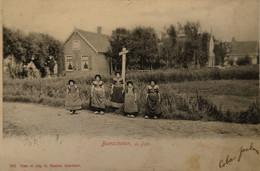 Bunschoten // De Punt (kinderen In Klederdracht) 1906 Vlekkig - Bunschoten