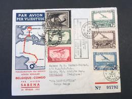 CONGO - BELGIQUE - POSTE AERIENNE - FFC - BRUXELLES - LEOPOLDVILLE - BXL - 1935 - TL1 - Luchtpostzegels: Brieven