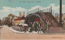 N°7861 R -cpa Reims -rue De Vesle -la Passerelle- - Reims