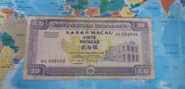 MACAU 20 PATACAS 1999 P71a USED - Macau