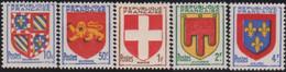 France   .   Y&T   .  834/838   .    **    .    Neuf Avec Gomme Et SANS Charniere   .   / .    MNH - Unused Stamps