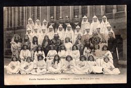 """Saint-Brieuc (22 Côtes D'Armor) Ecole Saint-Charles """"ATHALIE"""" Classe De IVe (19 Juin 1920) - Saint-Brieuc"""