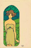 J102 - Illustrateur Raphaël KIRCHNER - Femme Art Nouveau - Décor De Vitraux - Kirchner, Raphael