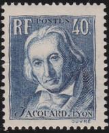 France   .   Y&T   .  295     .    **    .    Neuf Avec Gomme Et SANS Charniere   .   / .    MNH - Unused Stamps
