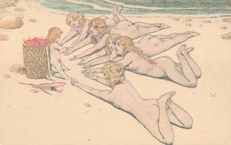 J102 - Illustrateur - Femmes Nues - Art Nouveau - 1900-1949