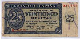 BILLETE DE 25 PESETAS DE 1936 - MUY BIEN CONSERVADO - 25 Pesetas