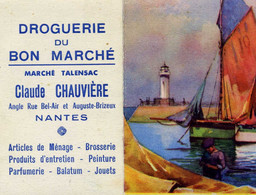 CALENDRIER - 1956 - NANTES: Droguerie Du Bon Marché - Petit Format - Petit Format : 1941-60