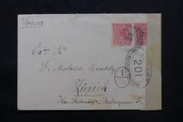 BRÉSIL - Enveloppe De Sao Paulo Pour La Suisse En 1918 Avec Contrôle Postal - L 75399 - Cartas