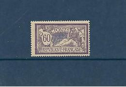 Type Merson 60 C Violet Et Bleu (YT 144) Neuf Sans Trace De Charnière - 1900-27 Merson