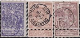 Belgie     .    OBP        .    71/73    .         O      .        Gebruikt  .   /   .   Oblitéré - 1894-1896 Expositions